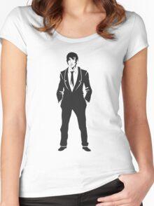 SebastiAn - Total (Original Artwork 3) (Black) Women's Fitted Scoop T-Shirt