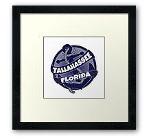 Tallahassee Florida anchor swirl Framed Print