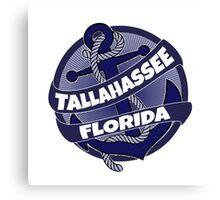 Tallahassee Florida anchor swirl Canvas Print