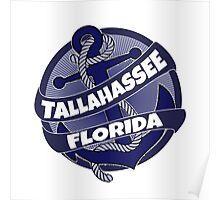 Tallahassee Florida anchor swirl Poster