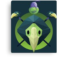 Low-Poly Plague Knight Canvas Print