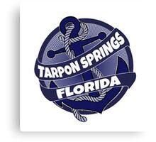 Tarpon Springs Florida anchor swirl Canvas Print