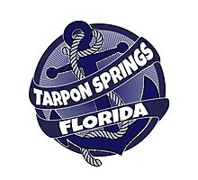 Tarpon Springs Florida anchor swirl Photographic Print