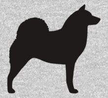 Finnish Spitz Silhouette(s) One Piece - Short Sleeve