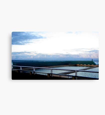 Newcastle Baths Horizon Canvas Print