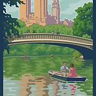 Vintage Central Park: The Lake and Bow Bridge by mitchfrey