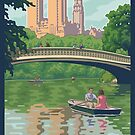 Bow Bridge in Central Park by mitchfrey