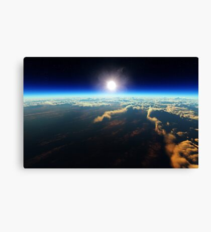 Earth sunrise from outer space Canvas Print
