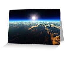 Earth sunrise from outer space Greeting Card