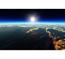 Earth sunrise from outer space Photographic Print