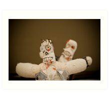 Zombie Doll Attack-1 Art Print