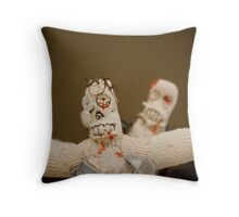 Zombie Doll Attack-1 Throw Pillow