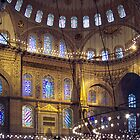 Interior of the Blue Mosque by Quixotegraphics