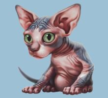 Cat-a-clysm: Sphynx kitten - Classic Kids Tee