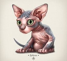 Cat-a-clysm: Sphynx kitten - Classic by Iker Paz Studio