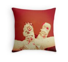 Zombie Doll Attack-2 Throw Pillow