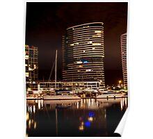 Melbourne Docklands at Night 6538 Poster