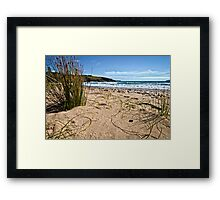 """Little Shelly's"" - Emerald Beach Framed Print"