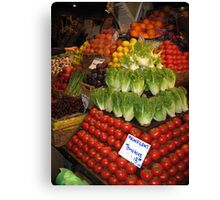The Art of Food Canvas Print
