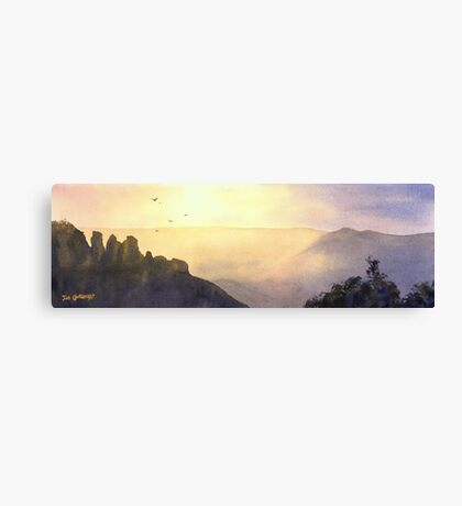 Sunrise over The Three Sisters, Blue Mountains, NSW Canvas Print
