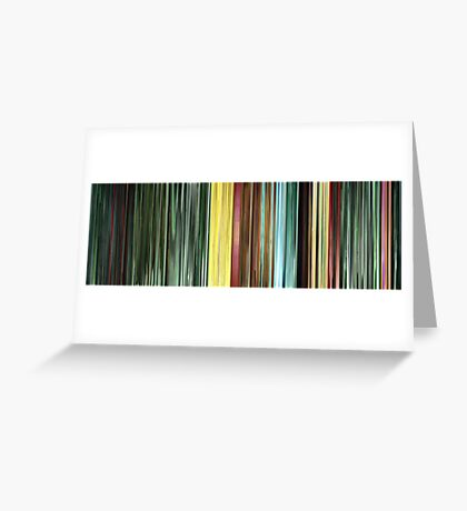 Moviebarcode: The Animatrix 9: Matriculated (2003) Greeting Card