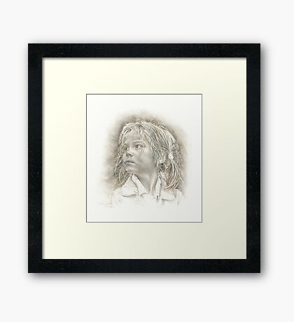 Mollie in French Grey Framed Print