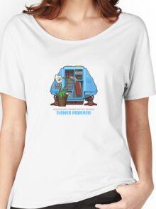 Silent Running, Flower Powered (Dewey Maintenance Drone 01) Women's Relaxed Fit T-Shirt