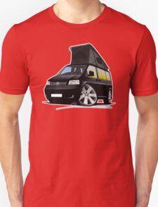VW T5 California Camper Van Black T-Shirt
