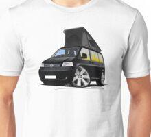 VW T5 California Camper Van Black Unisex T-Shirt