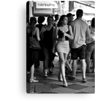 charging through the crowd Canvas Print