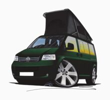 VW T5 California Camper Van Dark Green by Richard Yeomans