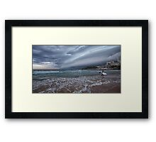 Storm coming pano Framed Print