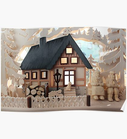 Christmas Decoration - Made in Saxony Poster
