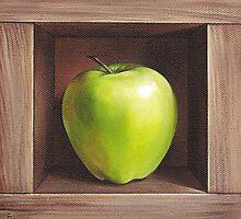 """""""Green apple"""" by Elena Kolotusha"""