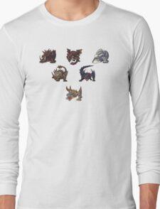 Monster Hunter Pyramid Design Long Sleeve T-Shirt