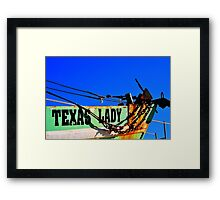 Texas Lady Framed Print