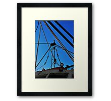 Shrimp Boat Rigging  Framed Print