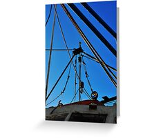 Shrimp Boat Rigging  Greeting Card