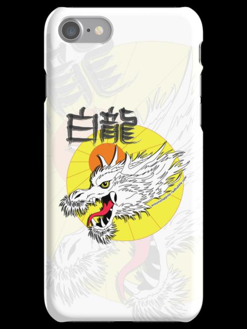 White Dragon King (Iphone case) by Antonio  Luppino