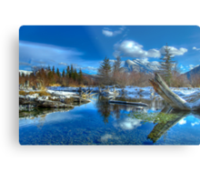 Morning on the Beaver Ponds Metal Print