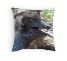 Lucky The Emu at Peel-Zoo, Pinjarra, Western Autralia Throw Pillow