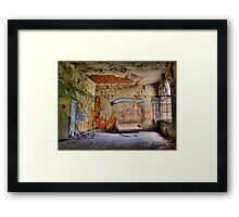 Smoking Area Framed Print