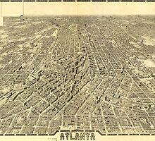 Vintage Pictorial Map of Atlanta Georgia (1919) by BravuraMedia
