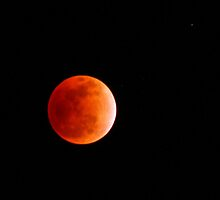Eclipsed Moon by Prasad