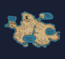 Map of Neverland Kids Tee