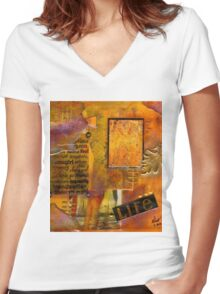 A Woman's Life T-Shirt Women's Fitted V-Neck T-Shirt
