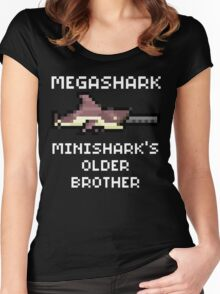 MegaShark Gun Terraria White Writing Women's Fitted Scoop T-Shirt