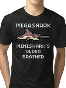MegaShark Gun Terraria White Writing Tri-blend T-Shirt