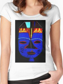 Blue Mask by Josh T-Shirt Women's Fitted Scoop T-Shirt