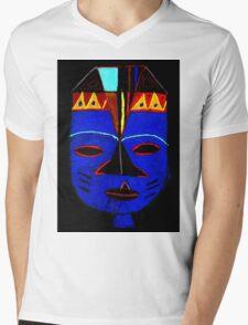 Blue Mask by Josh T-Shirt Mens V-Neck T-Shirt